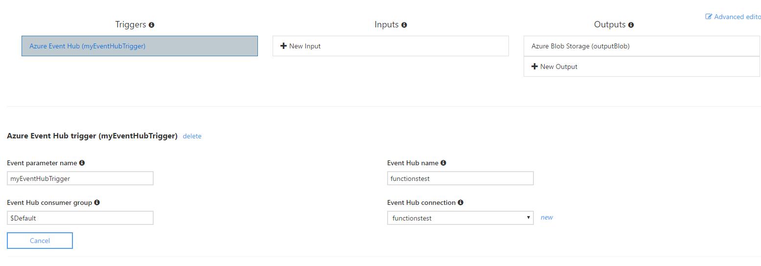 Azure Functions : A quick demo when using Event Hub – Karim Vaes