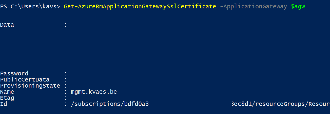 Azure Renewing The Ssl Certificate Of The Azure Application
