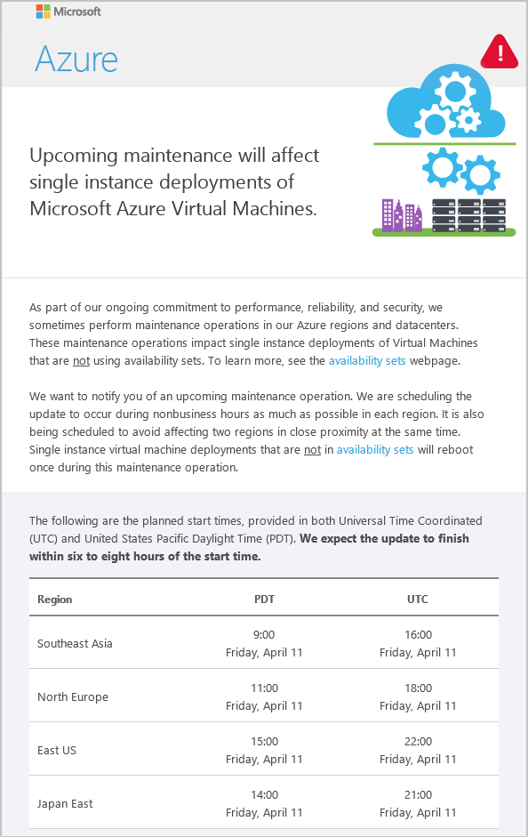 Azure : How to prepare for maintenance impacting your Virtual ...