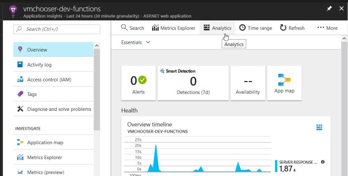 Azure Serverless Performance / Cost Monitoring – Retrieving