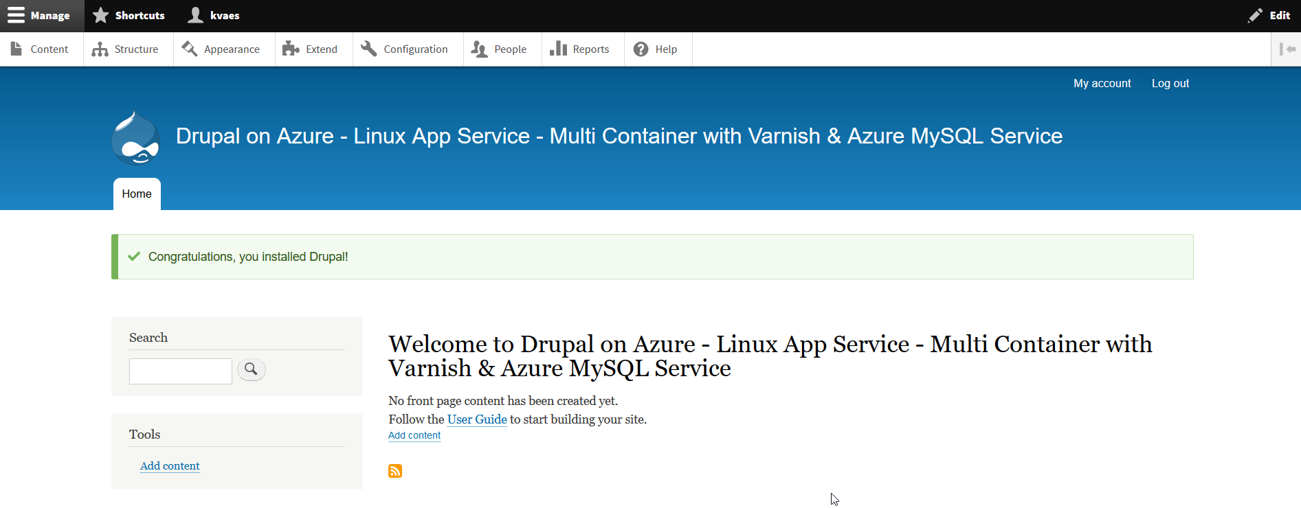 2018-05-31 23_11_30-Welcome to Drupal on Azure – Linux App Service