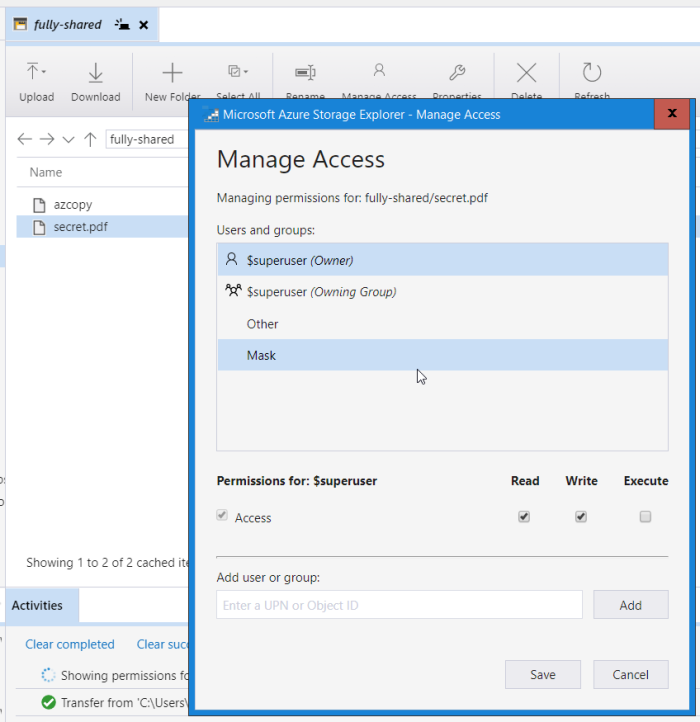 Azure Data Lake Storage (Gen2) : Exploring AAD B2B & ACL